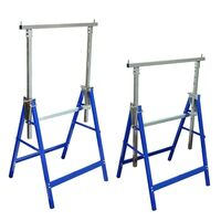 2 Adjustable Steel Workbench Scaffolding Trestles