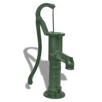 Cast Iron Garden Hand Water Pump in Green 65cm