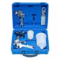 Set of 2 Small & Large HVLP Paint Spray Guns w Case