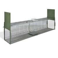Steel Humane Animal Trap Cage with 2 Doors 150x30cm