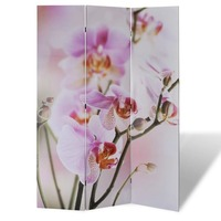 3 Panel Dual Sided Room Divider - Flowers 120x180cm