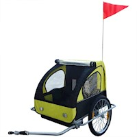Foldable Kids Baby Bicycle Bike Trailer in Yellow