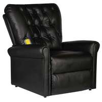 Faux Leather Electric Recliner Massage Chair Black