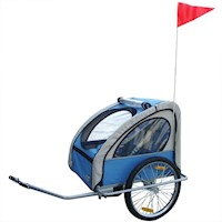 Foldable Kids Baby Bicycle Bike Trailer in Blue