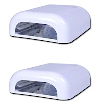 2x Gel Curing Nail Dryer UV Lamp in White 36W 240V
