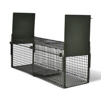 Steel Humane Animal Trap Cage with 2 Doors 100cm