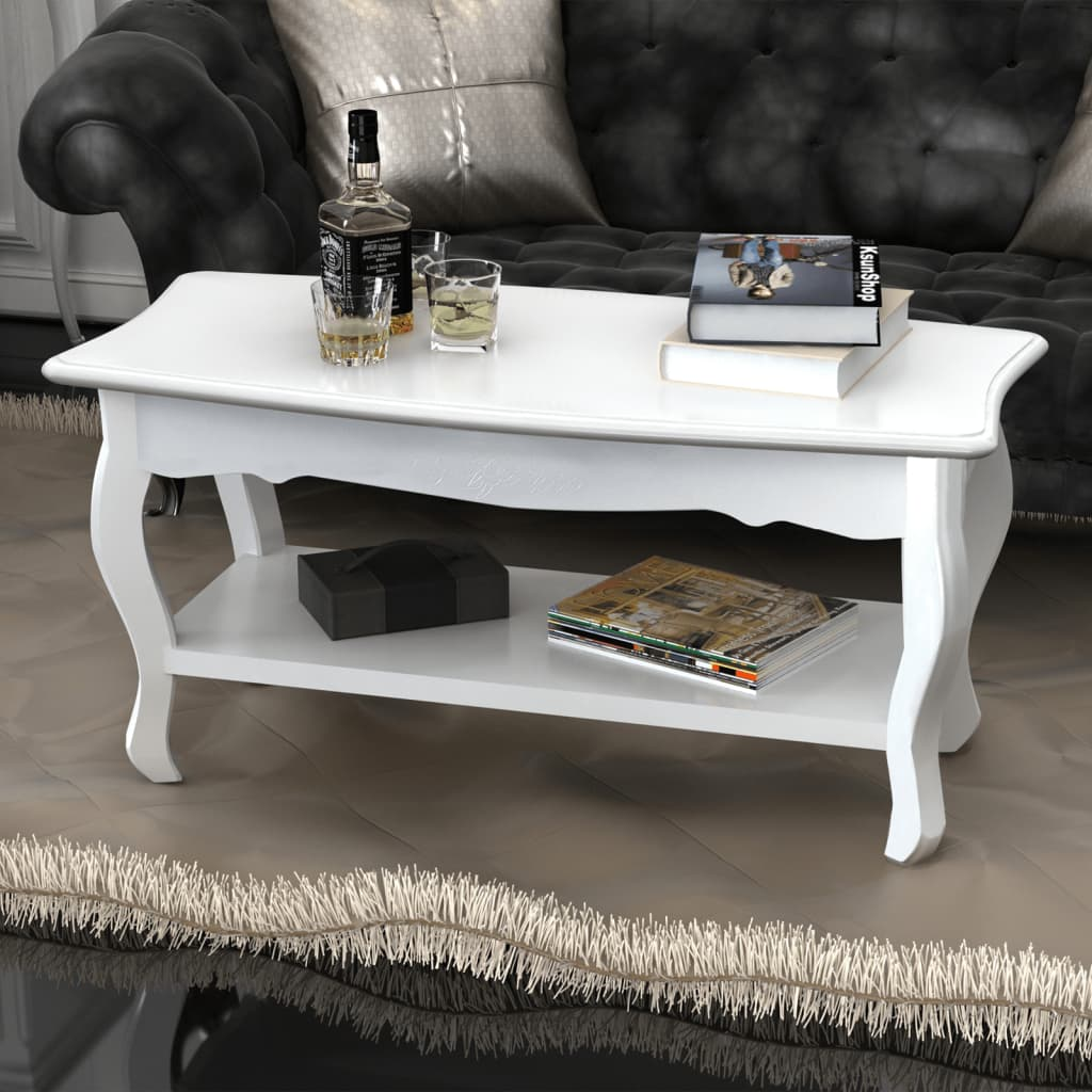 Bn Design High Gloss White Coffee Table With Side Drawers: New White Coffee Table Side Bedside Office Kitchen Modern