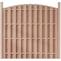 Arched WPC Garden Fence Panel in Brown 180 x 180cm