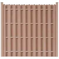 Square WPC Garden Fence Panel in Brown 180 x 180cm