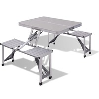 Foldable Aluminium Camping Table and Chairs Set