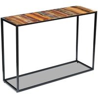 Retro Style Reclaimed Wood and Steel Console Table