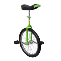 Adjustable Unicycle Bike with 20inch Wheel in Green
