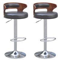 2x Naomi Pu Leather Wooden Bar Stools In White 72cm Buy