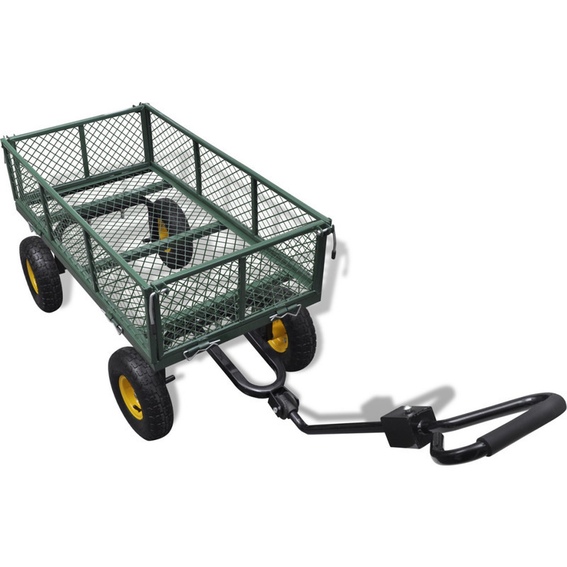 Foldable garden trolley cart w liner bag in green buy for Gardening tools brisbane