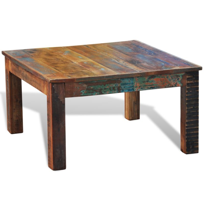Vintage style square reclaimed wood coffee table buy for Buy reclaimed wood online