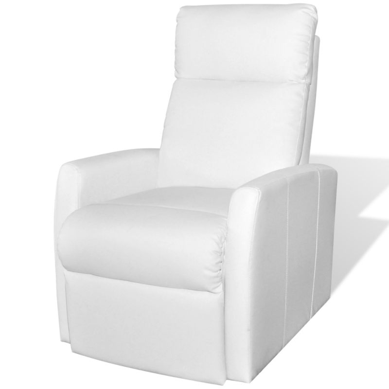 Faux Leather Electric Recliner Lift Chair In White Buy