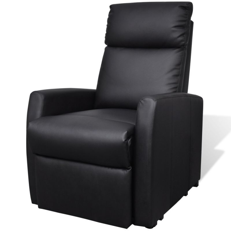 Electric Faux Leather Recliner Lift Chair in Black | Buy ...