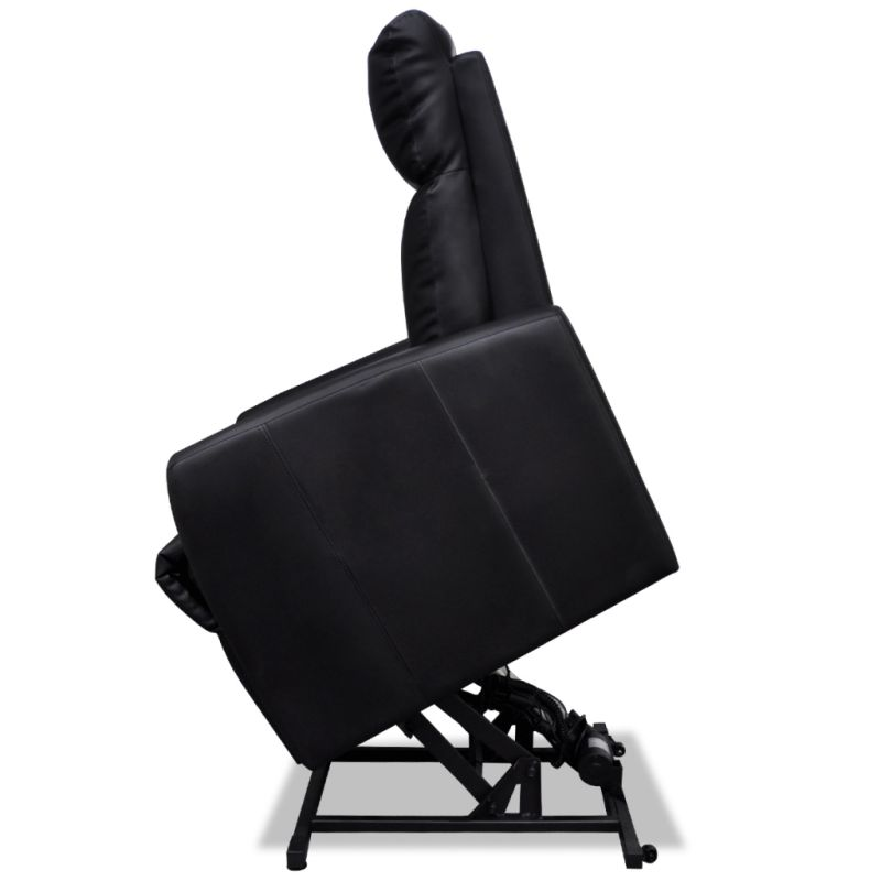 Electric Faux Leather Recliner Lift Chair In Black Buy