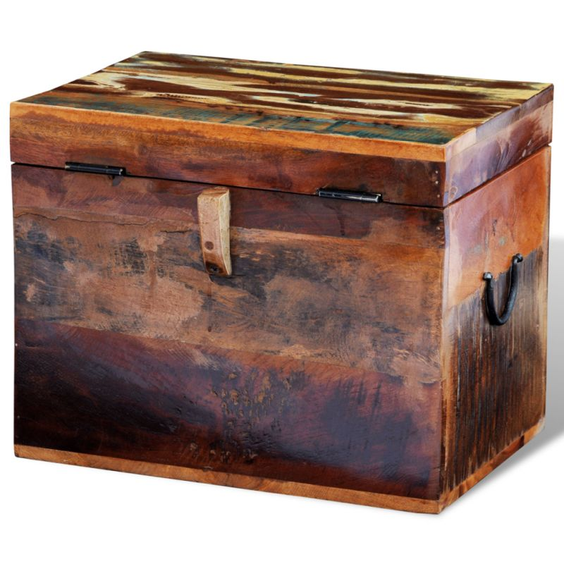 Toy Box Large Solid Wood Storage Chest Trunk Playroom: Vintage Reclaimed Wood Blanket Box Storage Chest