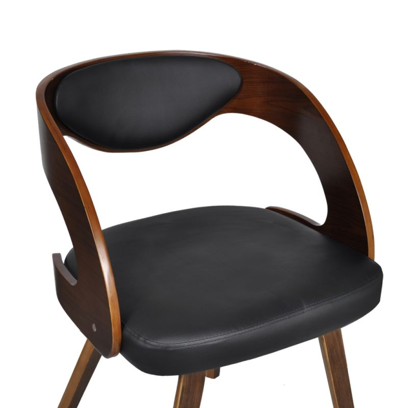 faux leather dining armchair brown black buy leather dining chairs