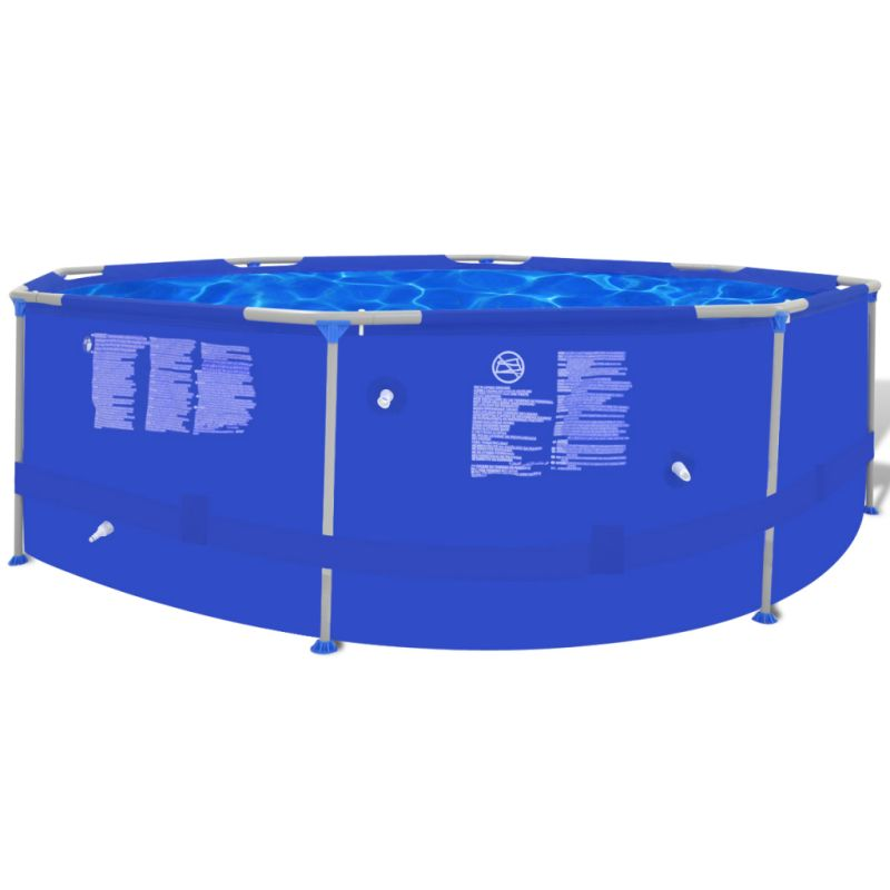 Above ground swimming pool w steel frame 300x76cm buy for Purchase above ground swimming pool