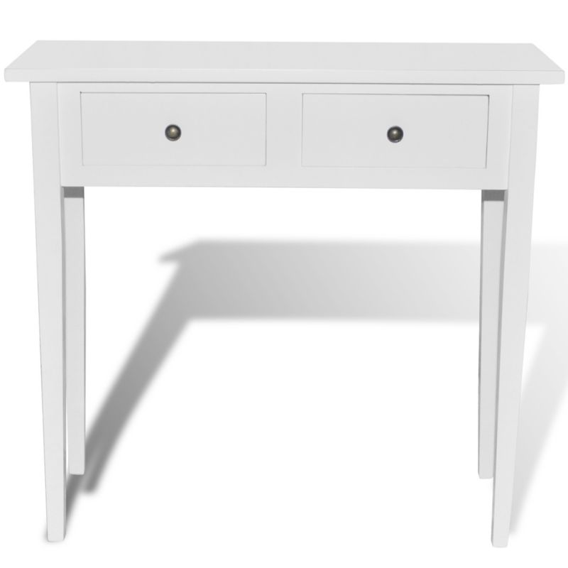 2 Drawer MDF Wood Console Hall Table 79cm x 74cm Buy Console Tables