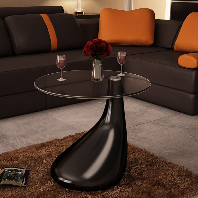 Modern Tear Drop Coffee Table In High Gloss Black Buy