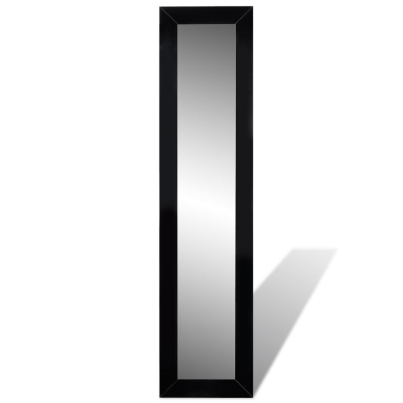 Mdf free standing full length floor mirror in black buy for Black floor length mirror