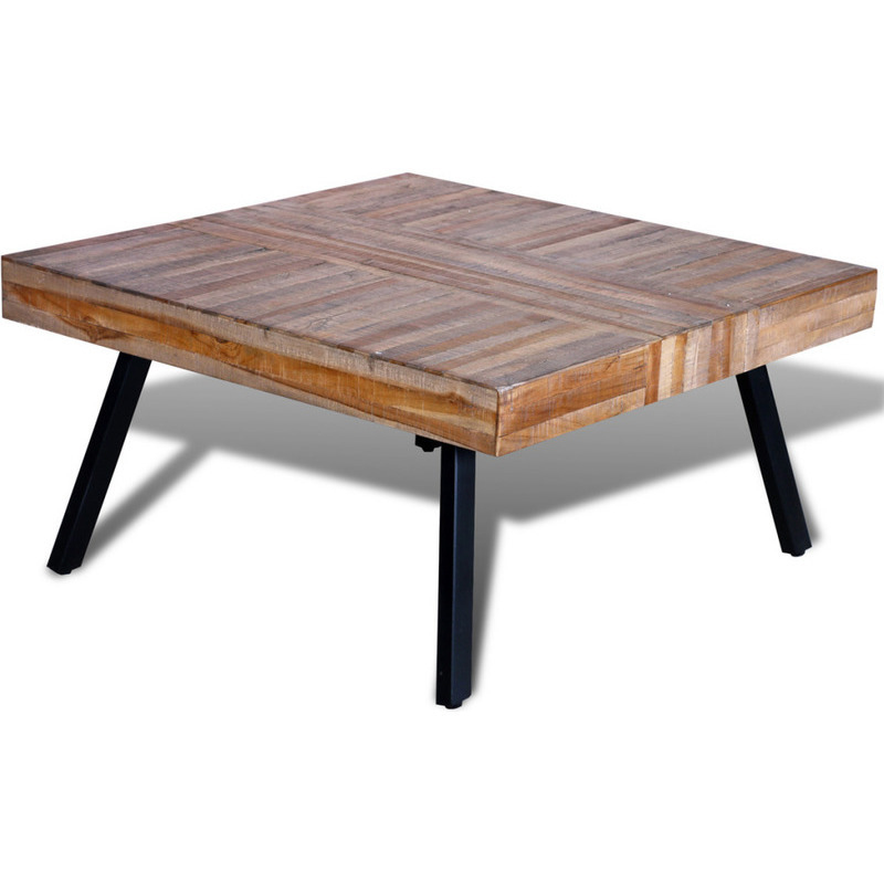 Reclaimed Teak Wood Square Coffee Table 80cm Buy Coffee Tables