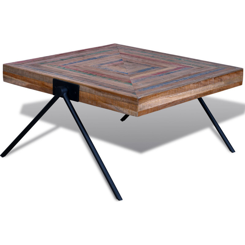 Reclaimed teak wood coffee table with v shaped legs buy for Buy coffee table legs