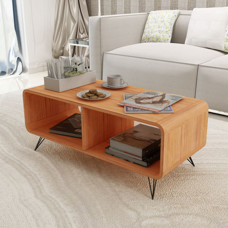 Modern TV Stand Entertainment Unit In Brown 90cm