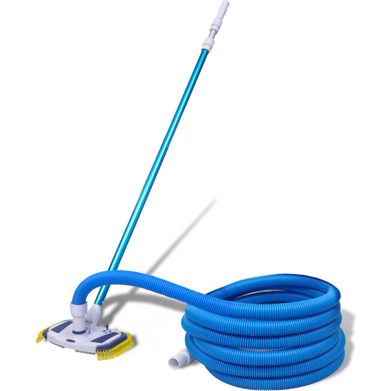 Pool cleaner vacuum set with telescopic pole hose buy for Garden hose pool vacuum