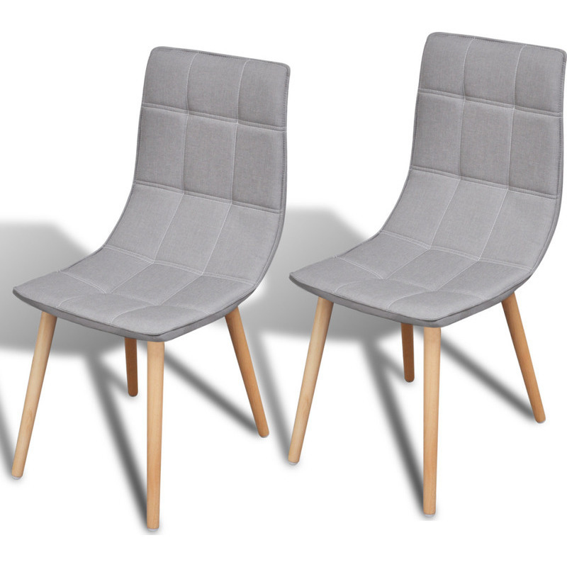 2x Fabric Dining Chairs w Wooden Legs in Light Grey Buy  : 24116701 from www.mydeal.com.au size 800 x 800 jpeg 115kB
