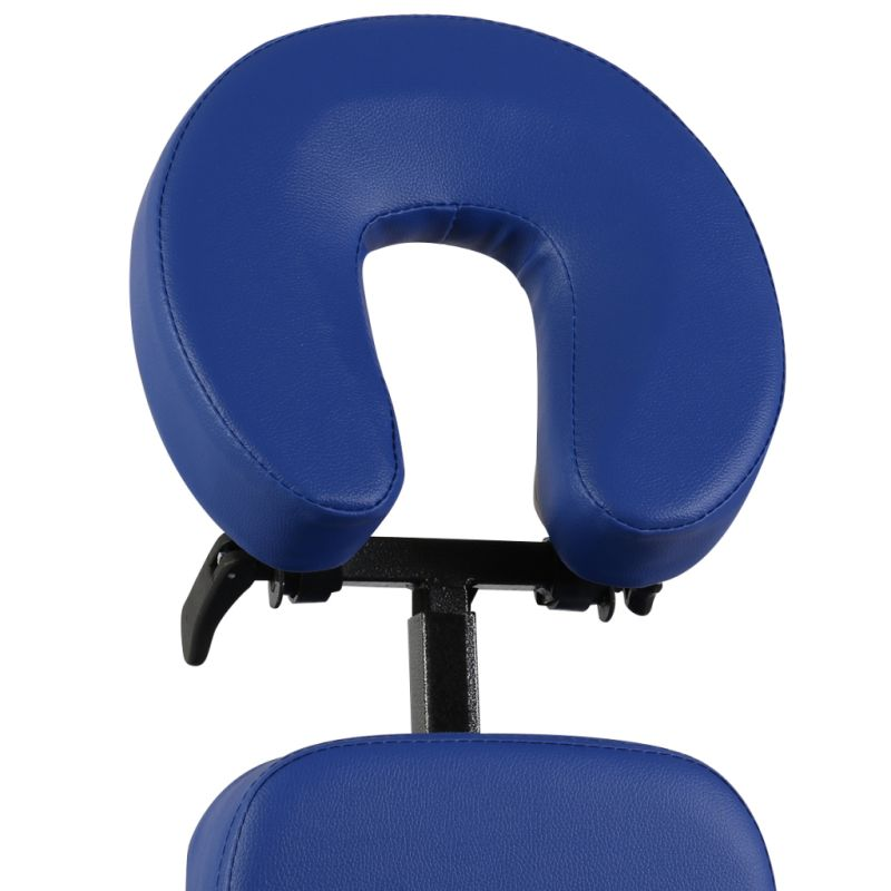 Portable Folding Faux Leather Massage Chair In Blue Buy
