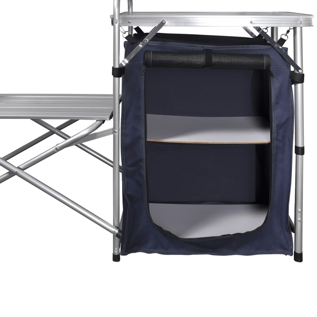 Outdoor Camping Kitchen Cooking Table Folding Cabinet
