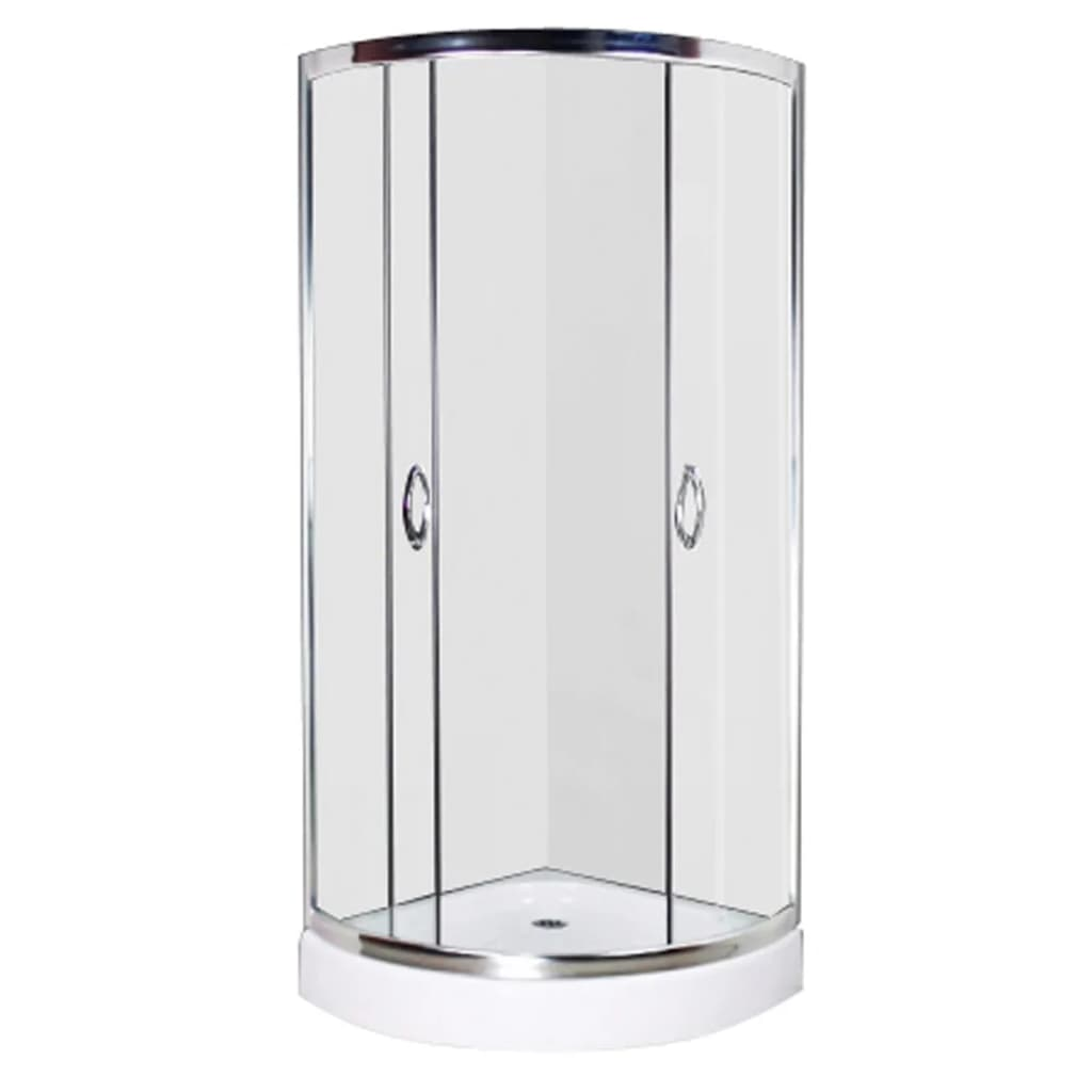 vidaXL Shower Enclosure 190x80cm Cubicle Quadrant Bathroom Screen ...