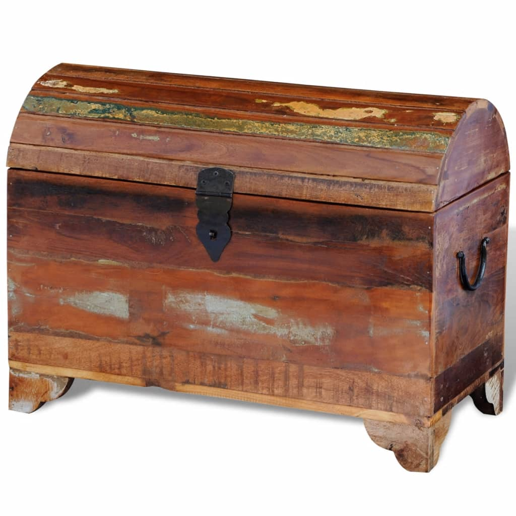 Handmade Reclaimed Solid Timber Wooden Storage Chest Trunk Toy Box Antique Retro