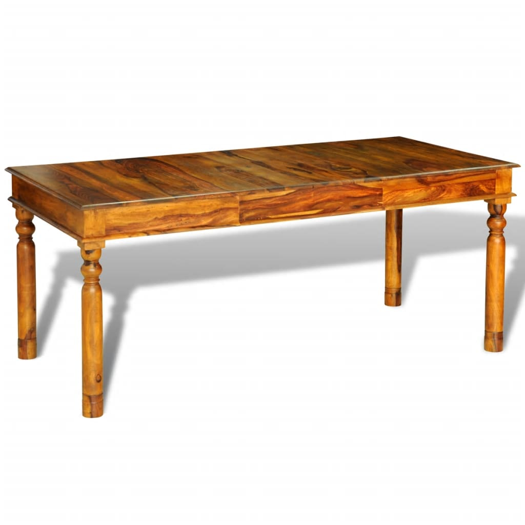 Outstanding Vidaxl Sheesham Solid Wood Dining Table 180X85X76Cm Colonial Style Furniture Download Free Architecture Designs Rallybritishbridgeorg