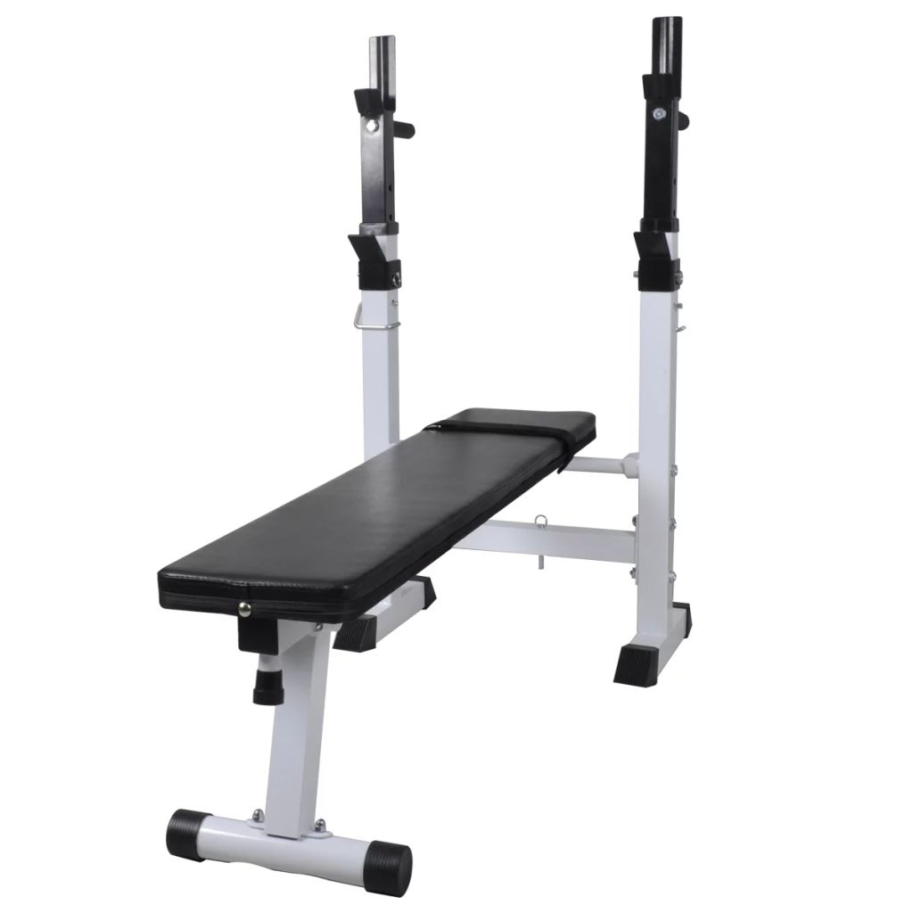 Vidaxl Weight Bench Adjustable Fitness Home Multi Gym Flat