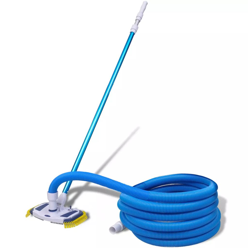 vidaXL Pool Cleaning Tool with Telescopic Pole and Hose Vacuum Sweep Broom