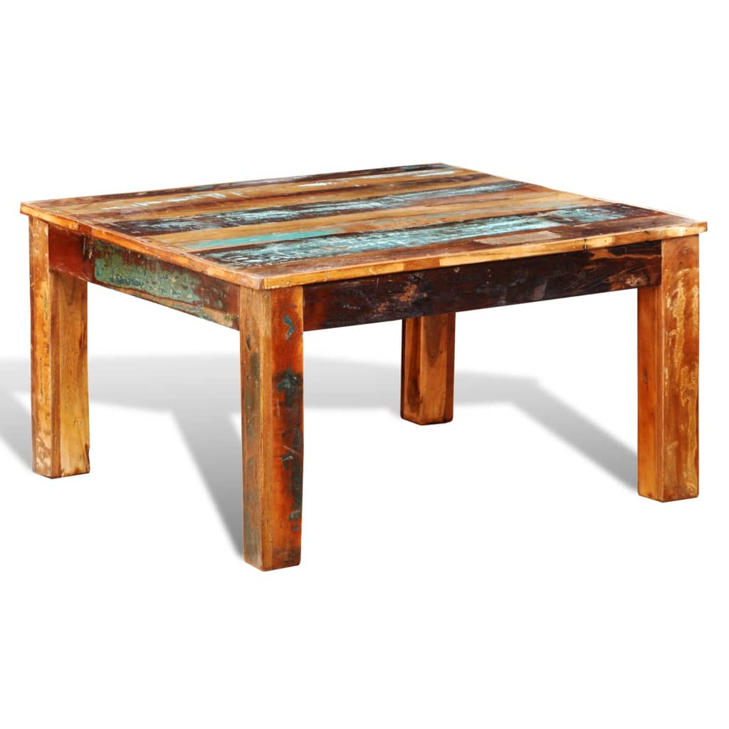 Vintage Wood Coffee Tables: Reclaimed Solid Wood Recycled Coffee Table Vintage Timber