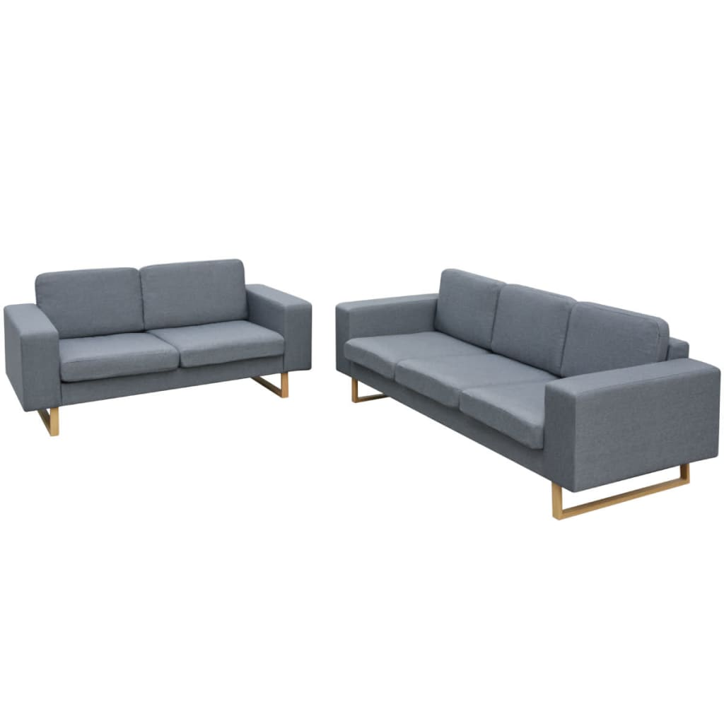 Vidaxl 2 3 Seater Fabric Sofa Suite Couch Chaise Lounge Living Room