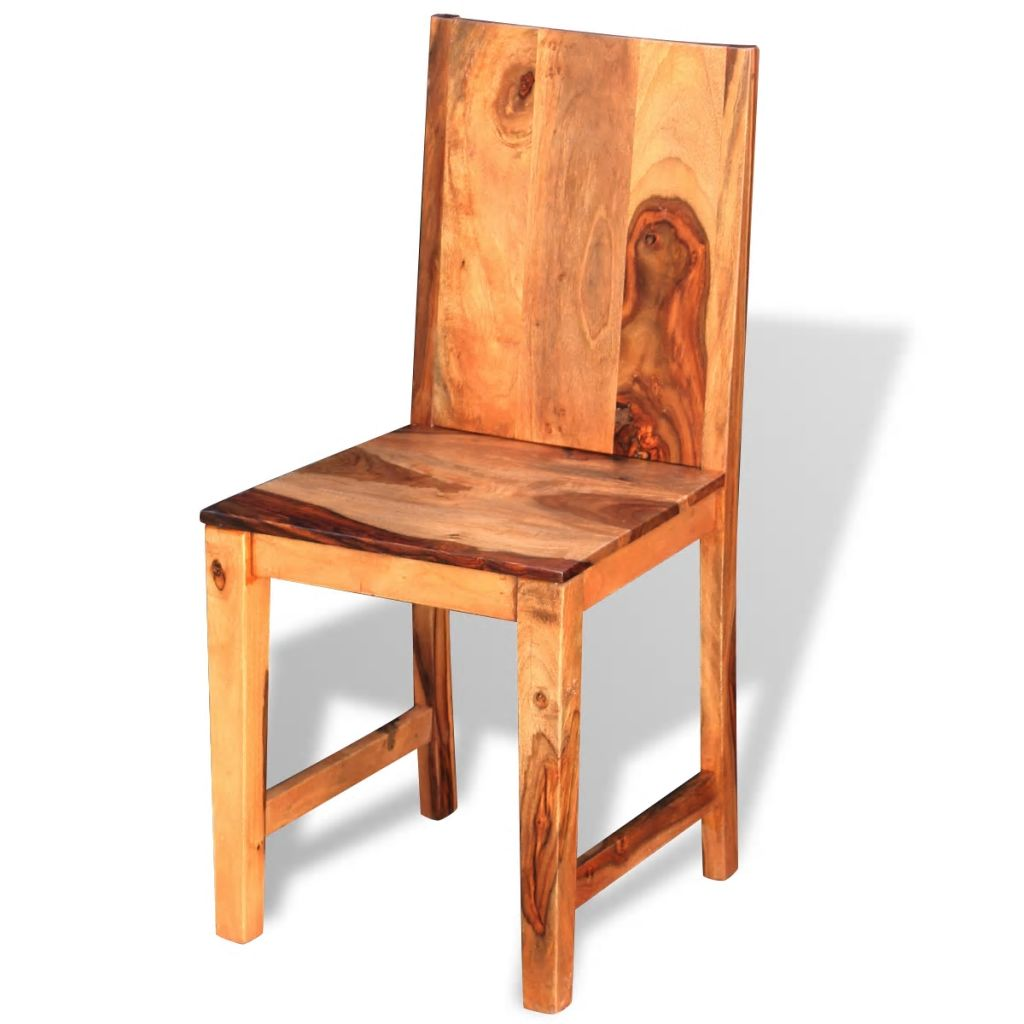Buy Dining Chairs By Ryc Furniture Online: VidaXL 4x Solid Sheesham Wood Dining Chairs Home Kitchen