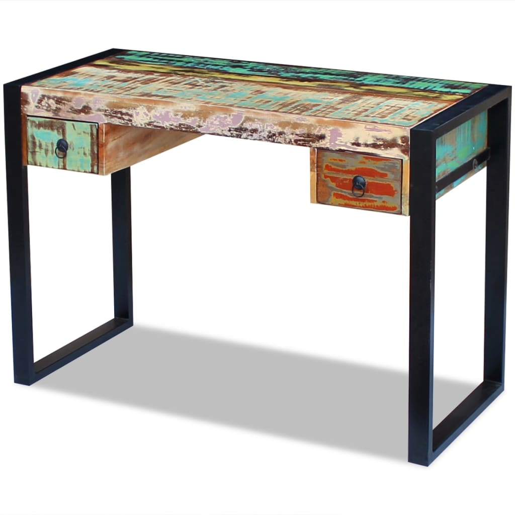 Office Console Table: VidaXL Recycled Timber Office Desk Side Console Table