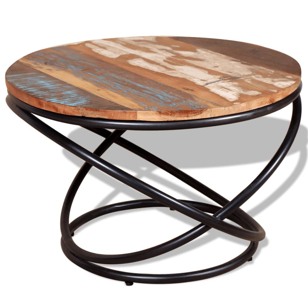 Vidaxl Coffee Table Teak Resin: VidaXL Solid Reclaimed Wood Coffee Table 60x60x40cm Living