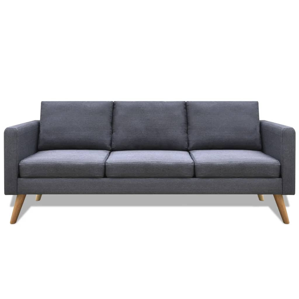 Grey Lounge Suite: VidaXL Sofa 3-Seater Fabric Dark Grey Home Couch Lounge