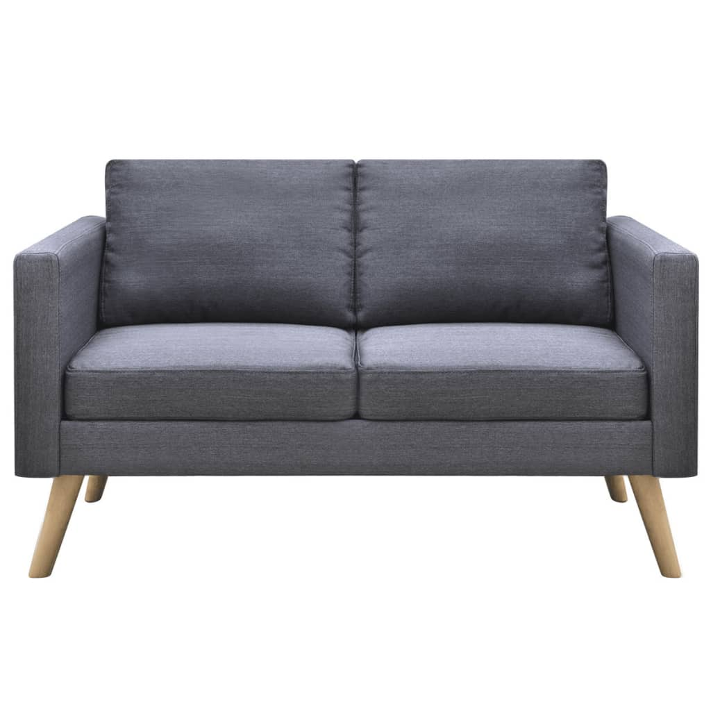 Grey Lounge Suite: VidaXL Sofa Set Fabric Dark Grey Couch Lounge Suite Living