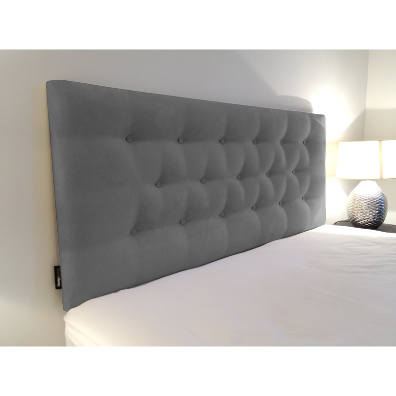 Diamond Queen Low Rise Fabric Bedhead In Graphite Buy