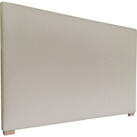 York King Fabric Upholstered Headboard in Almond