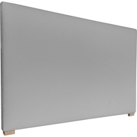 York King Fabric Upholstered Headboard in Silver